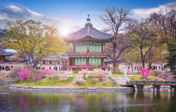 Παλάτι την άνοιξη Νότια Κορέα Gyeongbokgung στοκ εικόνες