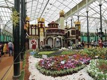 Παλάτι της Βαγκαλόρη φιαγμένο από λουλούδια Στοκ εικόνα με δικαίωμα ελεύθερης χρήσης