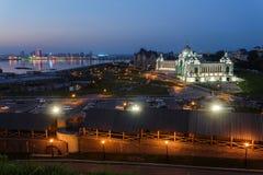 Παλάτι της γεωργίας και το ανάχωμα του Βόλγα Kazan Στοκ φωτογραφίες με δικαίωμα ελεύθερης χρήσης