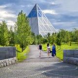 Παλάτι της ειρήνης και της συμφιλίωσης στην πόλη Astana Στοκ Φωτογραφίες