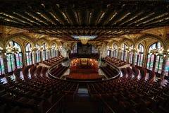 Παλάτι της καταλανικής μουσικής Στοκ εικόνα με δικαίωμα ελεύθερης χρήσης