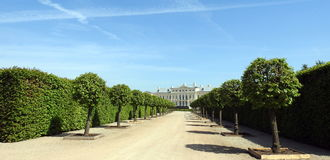 παλάτι της Λετονίας rundale στοκ φωτογραφία