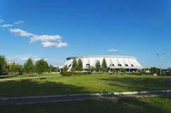 Παλάτι του αθλητισμού πάγου στη Ρωσία. Στοκ φωτογραφία με δικαίωμα ελεύθερης χρήσης