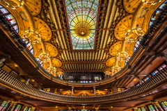 Παλάτι του καταλανικού εσωτερικού μουσικής Στοκ φωτογραφία με δικαίωμα ελεύθερης χρήσης