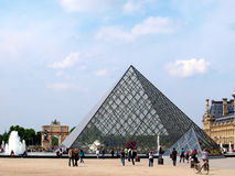 Παλάτι του Λούβρου στο Παρίσι, Γαλλία Στοκ Εικόνες