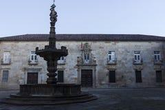 Παλάτι του παλαιού Αρχιεπισκόπου στη Braga στην Πορτογαλία Στοκ φωτογραφία με δικαίωμα ελεύθερης χρήσης
