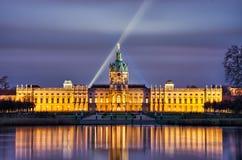 Παλάτι του Σαρλότεμπουργκ στη νύχτα, Βερολίνο, Γερμανία στοκ φωτογραφία με δικαίωμα ελεύθερης χρήσης