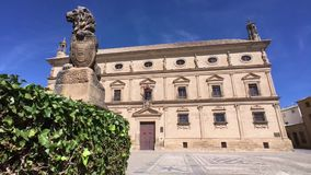 Παλάτι του Juan Vazquez de Molina, Ubeda, Jae'n επαρχία, Ανδαλουσία, Ισπανία απόθεμα βίντεο