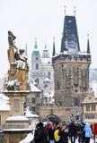 Παλάτι του Nicholas το χειμώνα, άποψη από τη γέφυρα του Charles Στοκ φωτογραφίες με δικαίωμα ελεύθερης χρήσης