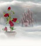 Παλάτι των καρδιών και των τριαντάφυλλων διανυσματική απεικόνιση