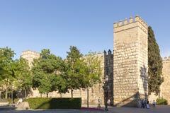 Παλάτι Alcazar στη Σεβίλη, Ισπανία Στοκ φωτογραφίες με δικαίωμα ελεύθερης χρήσης