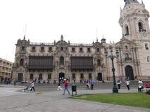 Παλάτι Archbishop's της Λίμα σε στο κέντρο της πόλης Στοκ φωτογραφία με δικαίωμα ελεύθερης χρήσης