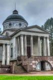Παλάτι Arkhangelskoe, ναός Yusupov και υπόγειος θάλαμος ενταφιασμών Στοκ Εικόνα