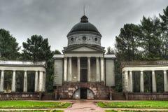 Παλάτι Arkhangelskoe, ναός Yusupov και υπόγειος θάλαμος ενταφιασμών Στοκ εικόνες με δικαίωμα ελεύθερης χρήσης