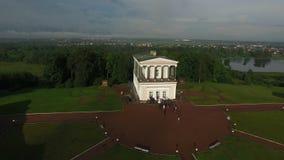 Παλάτι Belveder κοντά στην κεραία της Άγιος-Πετρούπολης πόλεων Peterhof φιλμ μικρού μήκους