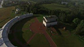 Παλάτι Belveder κοντά στην κεραία της Άγιος-Πετρούπολης πόλεων Peterhof απόθεμα βίντεο