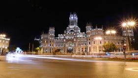 Παλάτι Cibeles στη Μαδρίτη. Στοκ Φωτογραφία