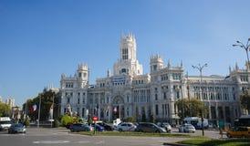 Παλάτι Cybele (Δημαρχείο) Plaza de Cibeles στη Μαδρίτη, Ισπανία Στοκ Εικόνες
