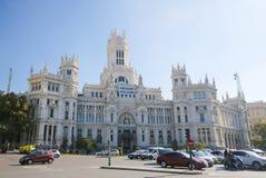 Παλάτι Cybele (Δημαρχείο) Plaza de Cibeles στη Μαδρίτη Στοκ Εικόνα
