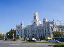 Παλάτι Cybele (Δημαρχείο) Plaza de Cibeles στη Μαδρίτη Στοκ εικόνα με δικαίωμα ελεύθερης χρήσης