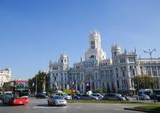 Παλάτι Cybele (Δημαρχείο) Plaza de Cibeles στη Μαδρίτη, SPA Στοκ Φωτογραφία