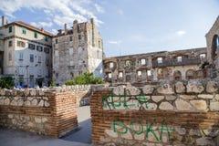 Παλάτι Diocletian (περιοχή κληρονομιάς της ΟΥΝΕΣΚΟ) Στοκ φωτογραφία με δικαίωμα ελεύθερης χρήσης