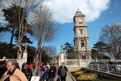 Παλάτι Sarayi Dolmabahce στη Ιστανμπούλ στοκ εικόνα με δικαίωμα ελεύθερης χρήσης