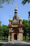 Παλάτι Gomel και σύνολο πάρκων. Το παρεκκλησι Paskevich τάφων Στοκ Φωτογραφίες