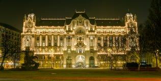 Παλάτι Gresham τη νύχτα, Βουδαπέστη, Ουγγαρία Στοκ Εικόνες