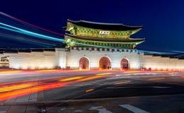 Παλάτι Gyeongbokgung στη Σεούλ, Κορέα Στοκ Εικόνες