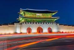 Παλάτι Gyeongbokgung στη Σεούλ, Κορέα Στοκ Φωτογραφίες