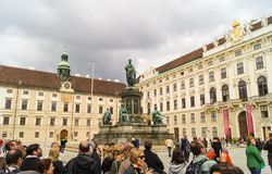 Παλάτι Hofburg στη Βιέννη, Αυστρία Στοκ εικόνες με δικαίωμα ελεύθερης χρήσης