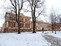 Παλάτι Jelgava, Λετονία στοκ φωτογραφίες