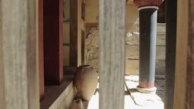 Παλάτι Knoss στο νησί Κρήτη στην Ελλάδα απόθεμα βίντεο