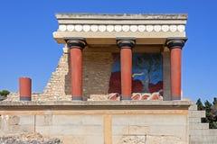 παλάτι knossos της Κρήτης Στοκ Φωτογραφίες