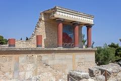 παλάτι knossos της Κρήτης Στοκ Εικόνα