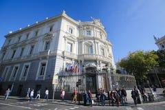 Παλάτι Linares στη Μαδρίτη, Ισπανία Στοκ Φωτογραφία