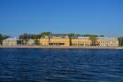 Παλάτι Menshikov στο ανάχωμα Universitetskaya στη Αγία Πετρούπολη, Ρωσία Στοκ Φωτογραφίες