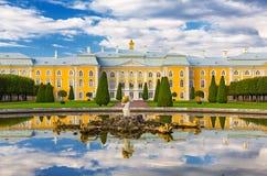 παλάτι peterhof Πετρούπολη ST Στοκ Εικόνα