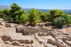 Παλάτι Phaistos. Κρήτη, Ελλάδα Στοκ Εικόνες