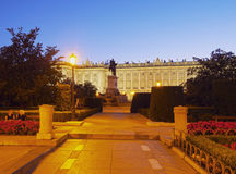 παλάτι pincipal βασιλική δευτερεύουσα Ισπανία της Μαδρίτης Στοκ Φωτογραφίες