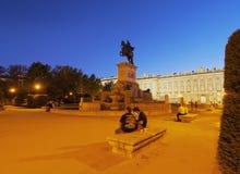 παλάτι pincipal βασιλική δευτερεύουσα Ισπανία της Μαδρίτης Στοκ Εικόνες