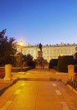 παλάτι pincipal βασιλική δευτερεύουσα Ισπανία της Μαδρίτης Στοκ Εικόνα