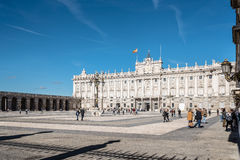παλάτι pincipal βασιλική δευτερεύουσα Ισπανία της Μαδρίτης Στοκ εικόνα με δικαίωμα ελεύθερης χρήσης