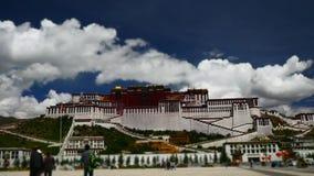 Παλάτι Potala Θέση λάμα Dalai Θιβετιανός βουδισμός Lhasa, Θιβέτ απόθεμα βίντεο