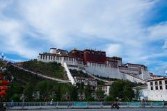 Παλάτι Potala σε Lhasa, Θιβέτ Στοκ Φωτογραφίες