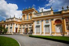 Παλάτι Wilanow στη Βαρσοβία, Πολωνία Στοκ φωτογραφία με δικαίωμα ελεύθερης χρήσης