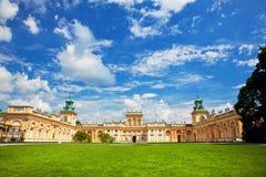 Παλάτι Wilanow στη Βαρσοβία, Πολωνία Στοκ εικόνα με δικαίωμα ελεύθερης χρήσης