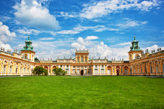 Παλάτι Wilanow στη Βαρσοβία, Πολωνία Στοκ Εικόνα