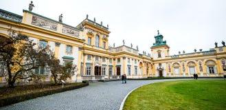 Παλάτι Wilanow Στοκ Φωτογραφίες